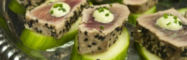 Tuna Cuke Party Platter Catering OBX