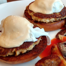 Eggs Benedict – Black Forrest Ham or Fried Green Tomato